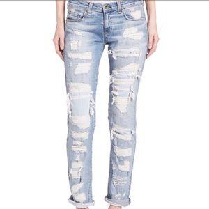 Rag & Bone The Dre distressed ripped Brigade jeans